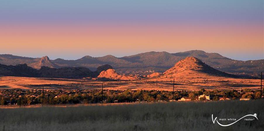 Prescott Valley Sunrise Looking Toward Granite Dells and Thumb Butte