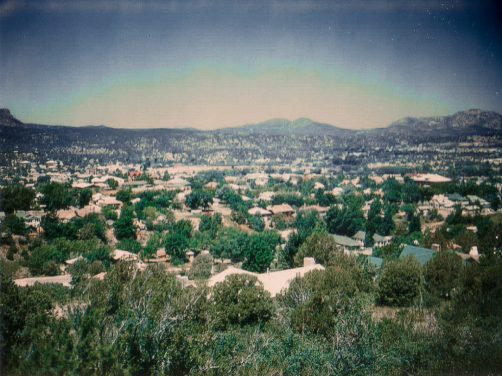 A view of Prescott AZ during the 70's