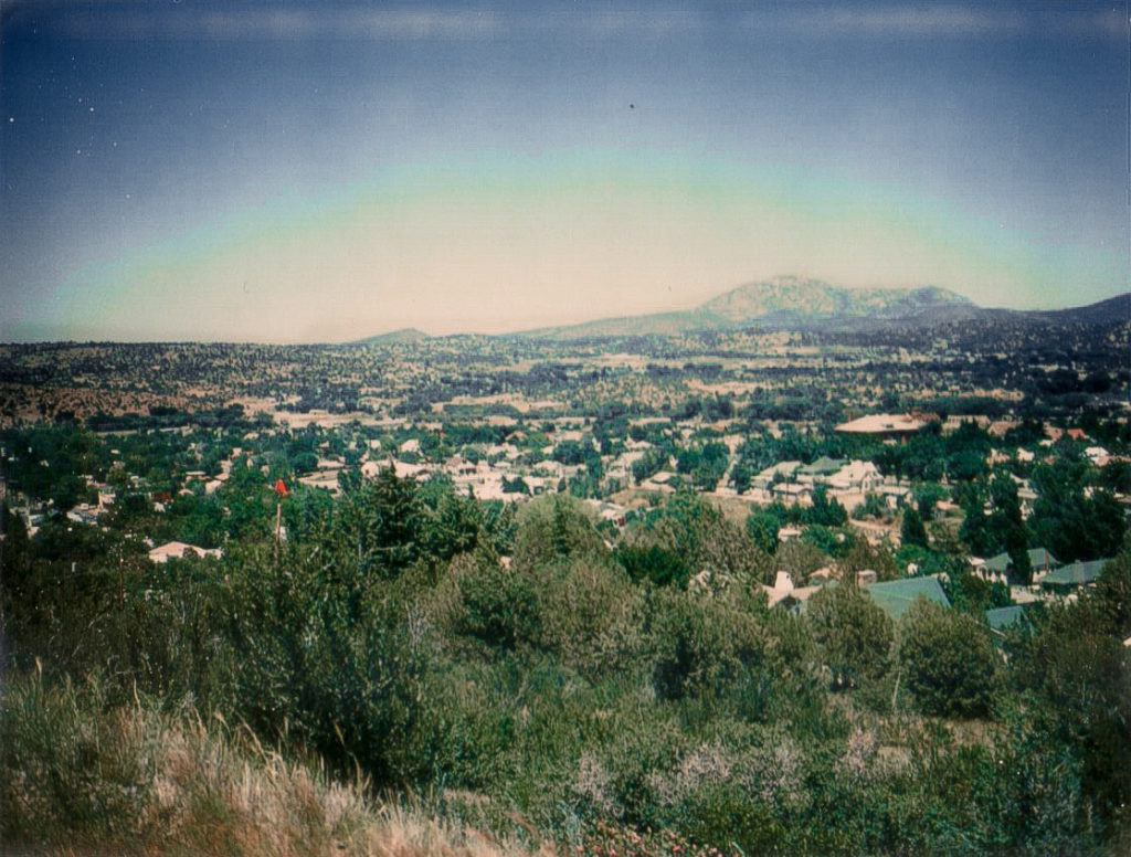 View of Prescott AZ during the 70's