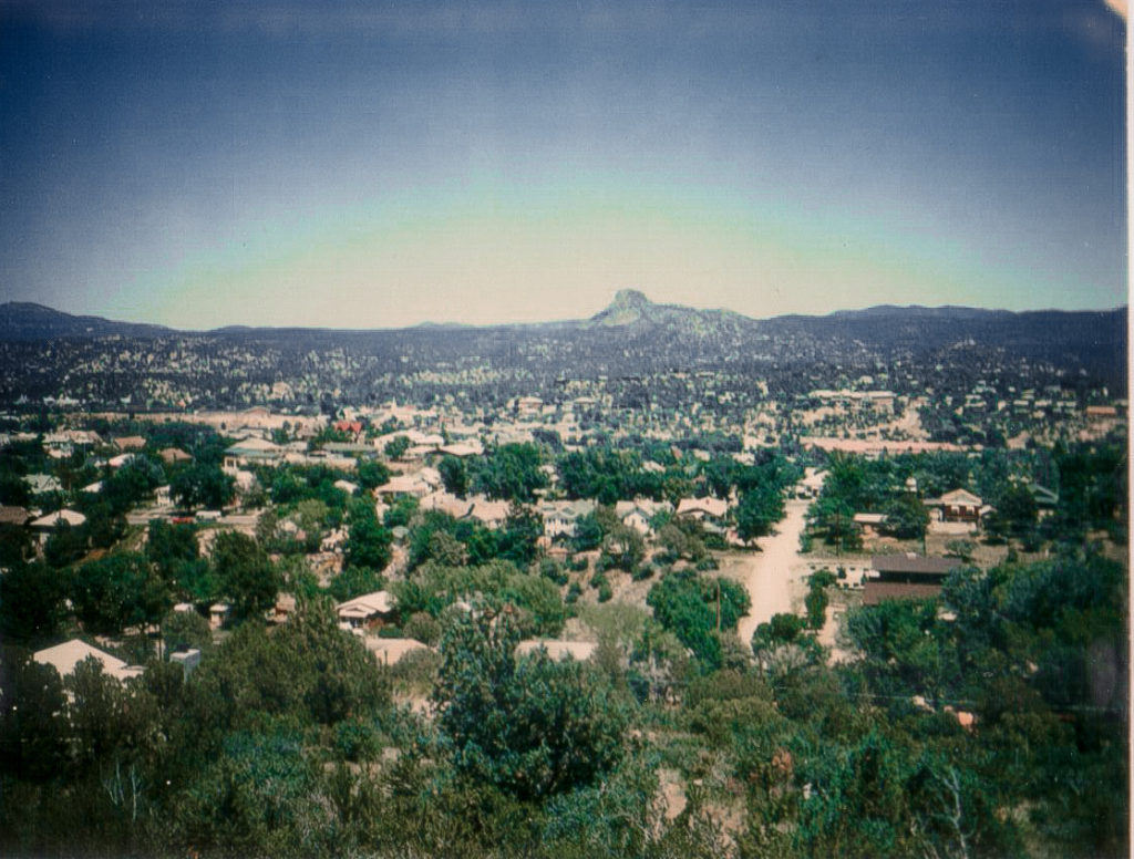 View of downtown Prescott during the 70's-80's
